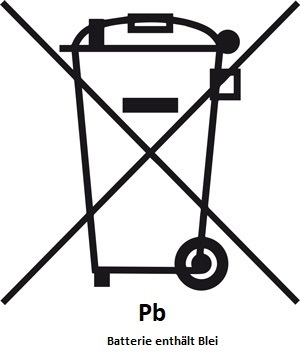 Mülltonne-Symbol-Pb